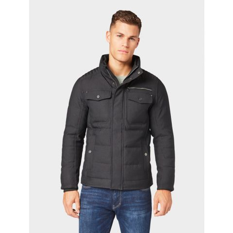 structured padded jacket