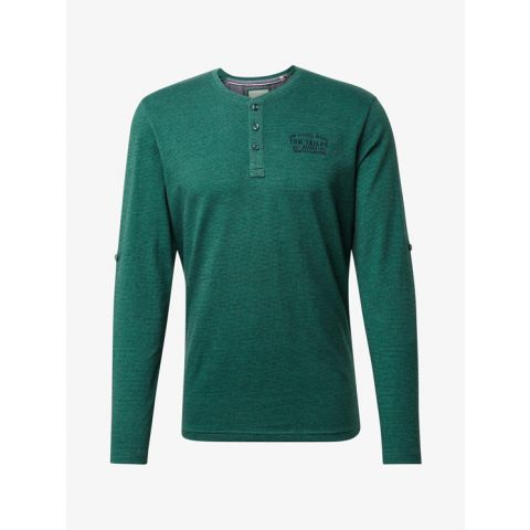 longsleeve henley with turn-up