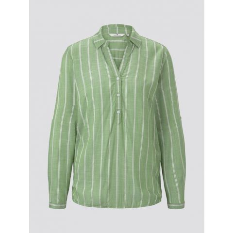 blouse with collar  striped