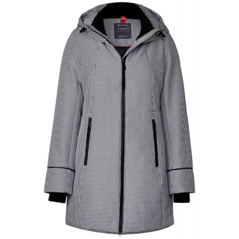 houndstooth functional parka