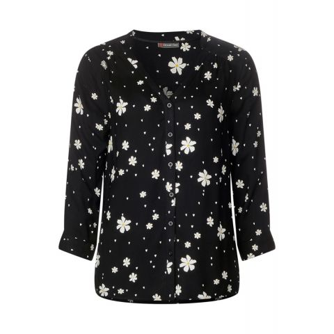 Buttoned Blouse w print