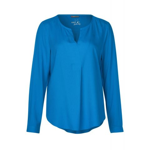 V-Neck blouse w pleat