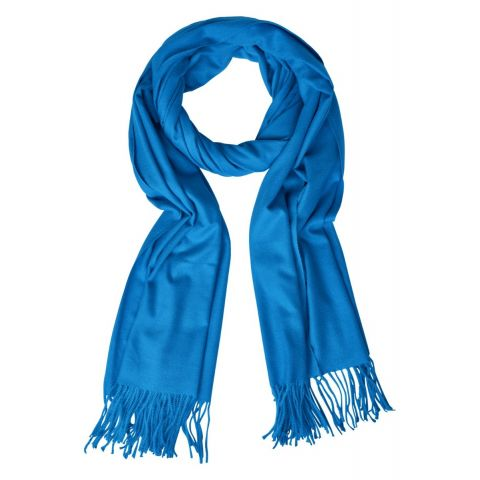 Soft Solid Scarf With Fringes