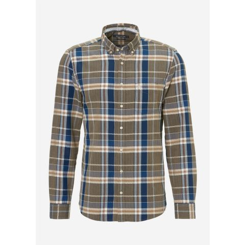 Button down,long sleeve,one chest p