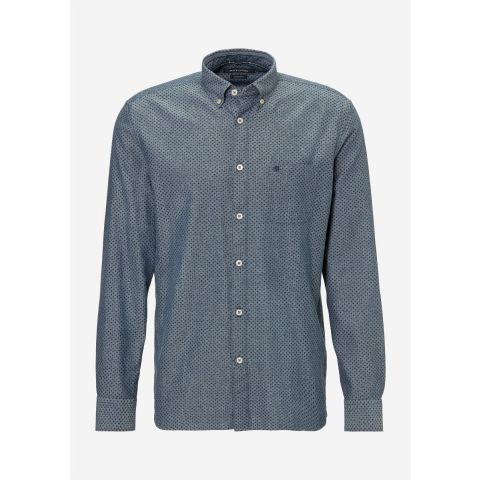 Button down,long sleeve,one pocket,