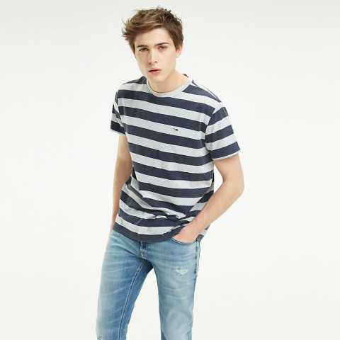 TJM HEATHER STRIPE TEE