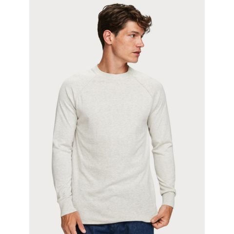Cashmere-blend crewneck pull with r