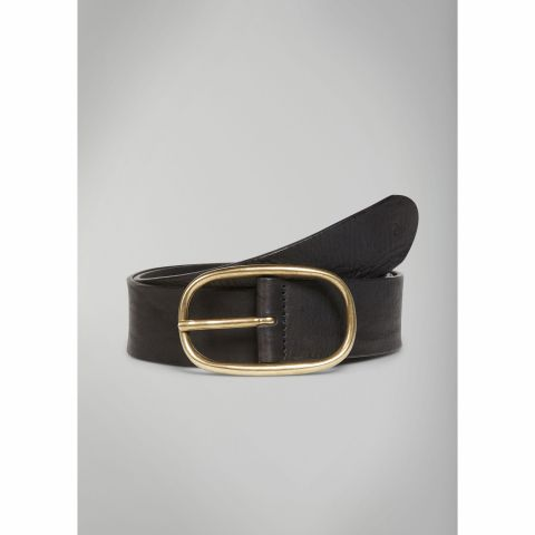 Belt, Denim, oval buckle, natural p