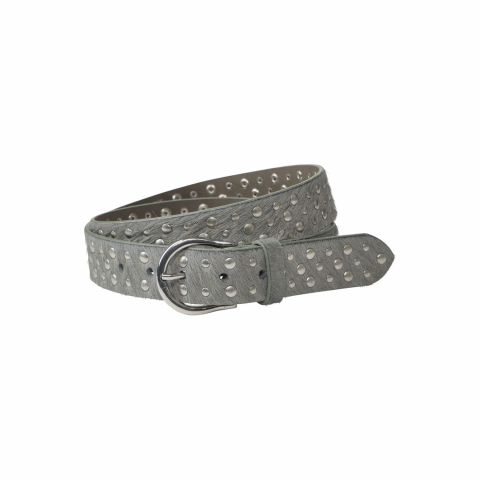 Leather Belt With Allover Stud