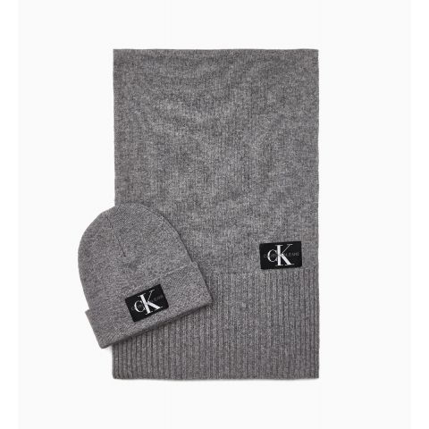 J BASIC MEN KNITTED SCARF+BEANIE